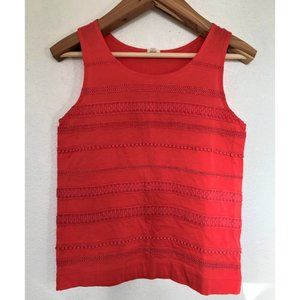 J.Crew Embroidered Textured Tank Top